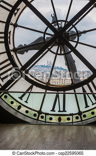 Clock in Orsay museum, Paris - csp22595065