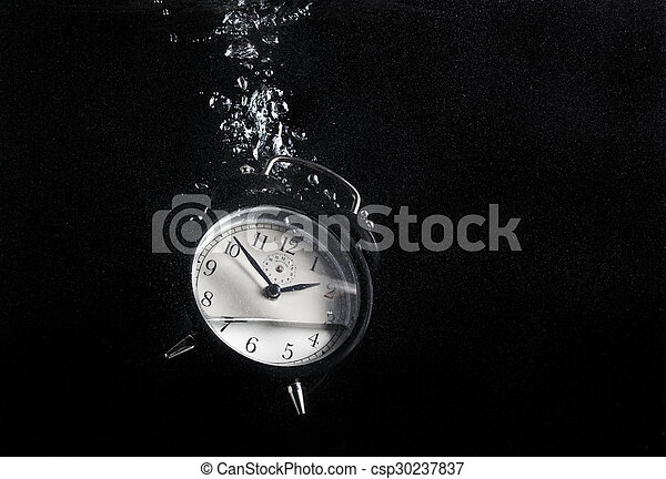 Clock in water csp30237837
