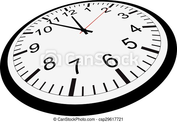 Clock isolated on white background - csp29617721