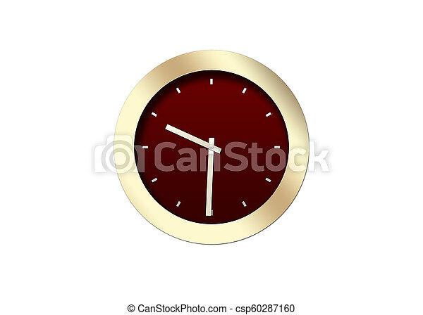 Clock isolated on white background - csp60287160