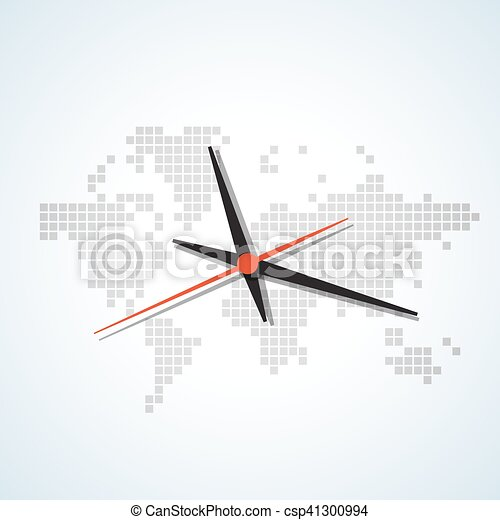Clock map image of a wall clock on a background map of the world clock map csp41300994 gumiabroncs Images