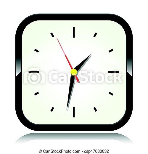 clock on white background - csp47030032