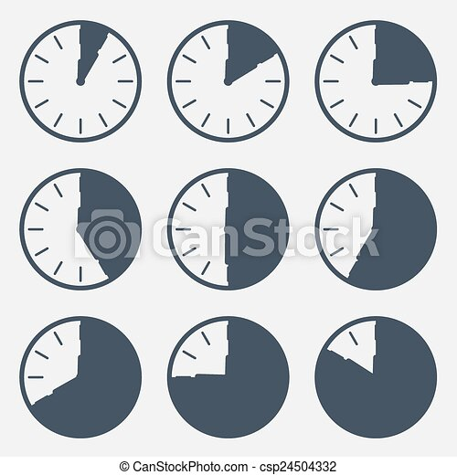 Clock - Time Countdown Vector Set - csp24504332