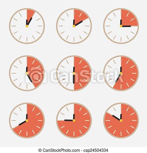 Clock - Time Countdown Vector Set - csp24504334