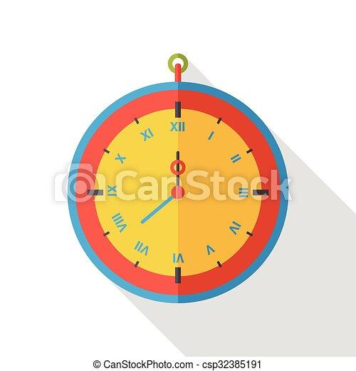 clock time flat icon - csp32385191