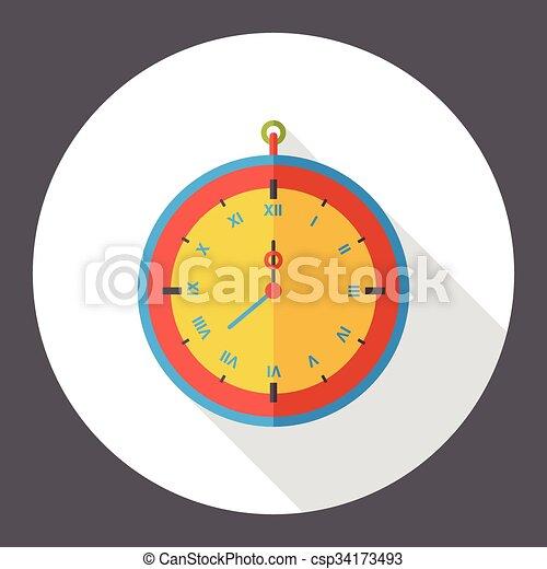 clock time flat icon - csp34173493