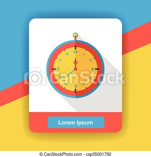clock time flat icon - csp35001792
