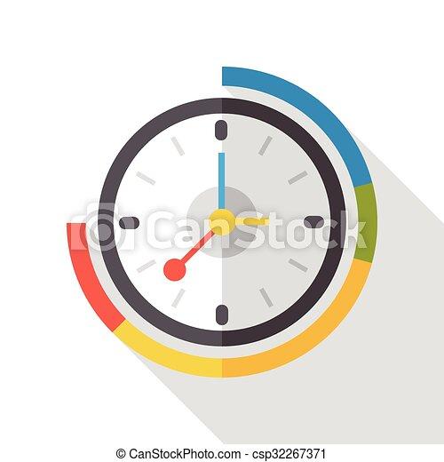 clock time flat icon - csp32267371