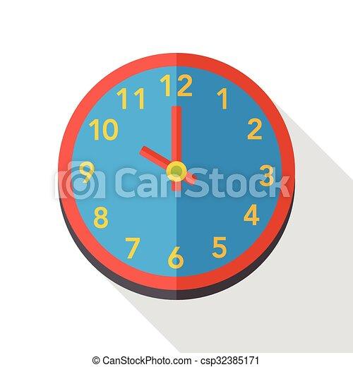 clock time flat icon - csp32385171