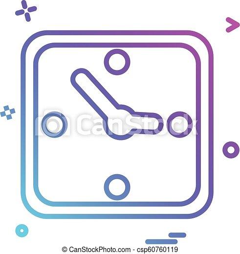 clock time icon vector design - csp60760119