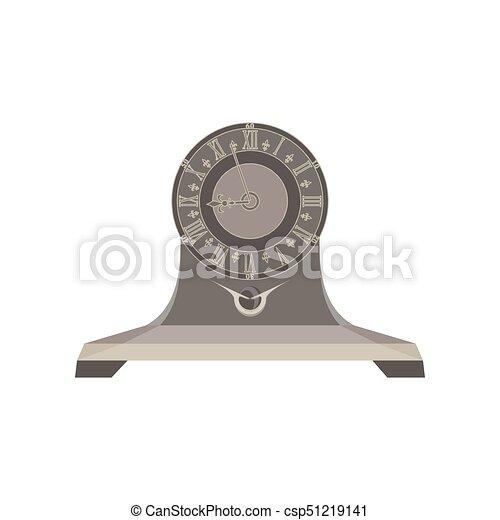 Clock time retro alarm vector watch background vintage old hour timer minute design concept - csp51219141