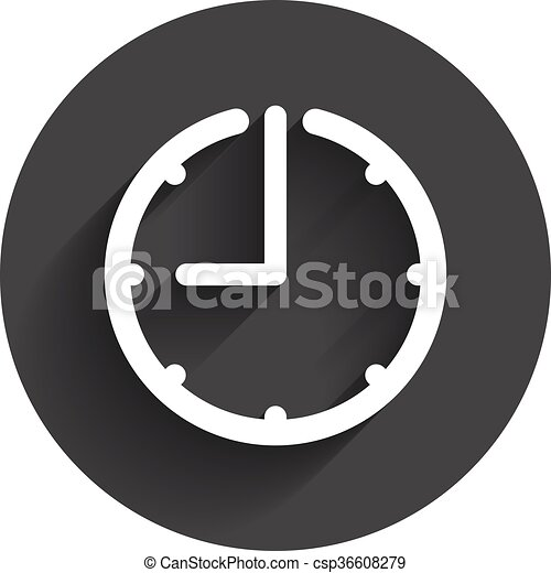 time clock icon time and watch timer 24 hours symbol ui web