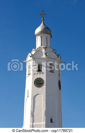 Clock tower 17 th c. (Novgorod Kremlin, Russia) - csp11789721