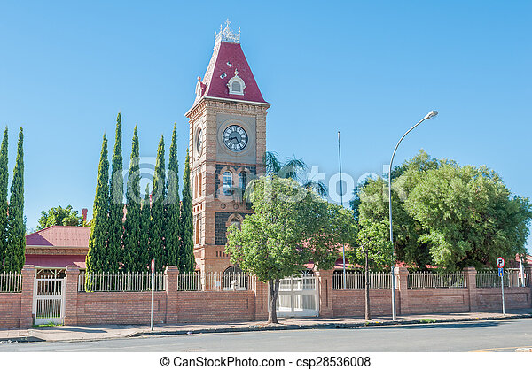 Clock tower, Department of Public Works, Kimberley  - csp28536008