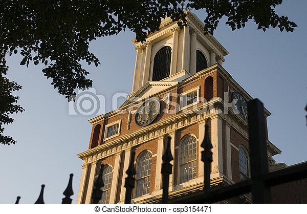 Clock Tower in Boston - csp3154471