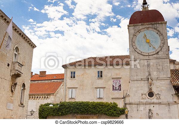 Clock tower - Trogir, Croatia. - csp9829666