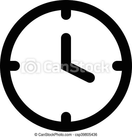 clock vector icon vectors search clip art illustration drawings rh canstockphoto com clock vector freepik clock vector free download