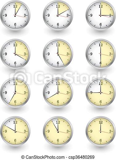 clock vector set - csp36480269