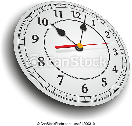 Simple Clock With Hands As A Template