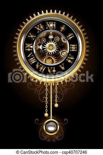 Clock with pendulum - csp40707246