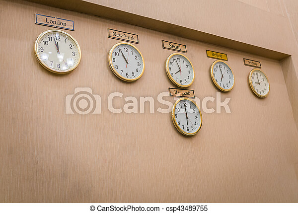 Clocks shows different time zones on old wall clocks shows clocks shows different time zones on old wall csp43489755 sciox Image collections