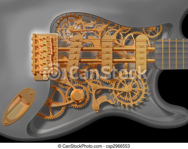 Clockwork guitar - csp2966553