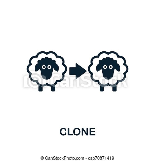 Clone vector icon symbol. Creative sign from biotechnology icons collection. Filled flat Clone icon for computer and mobile - csp70871419