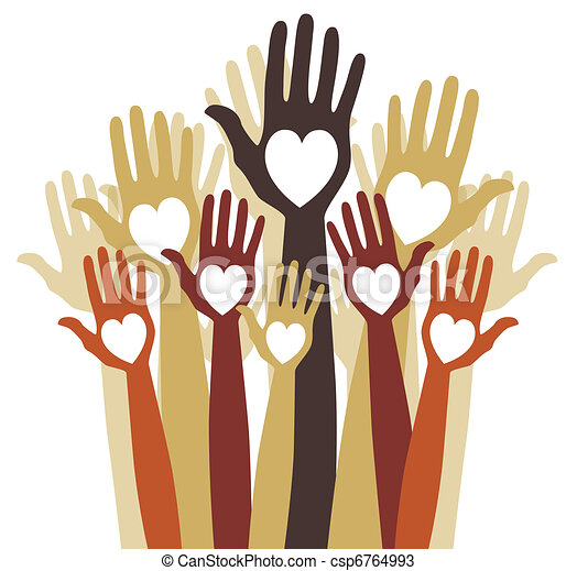 Close group of loving hands. - csp6764993