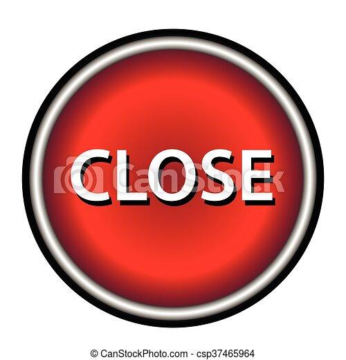 Close icon, red round button - csp37465964