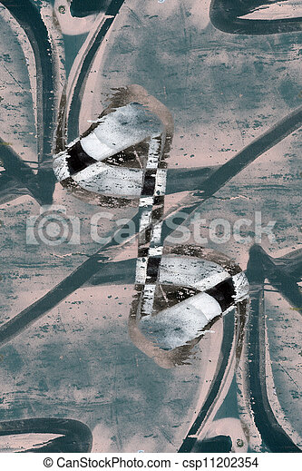 Close up abstract graffiti background - csp11202354