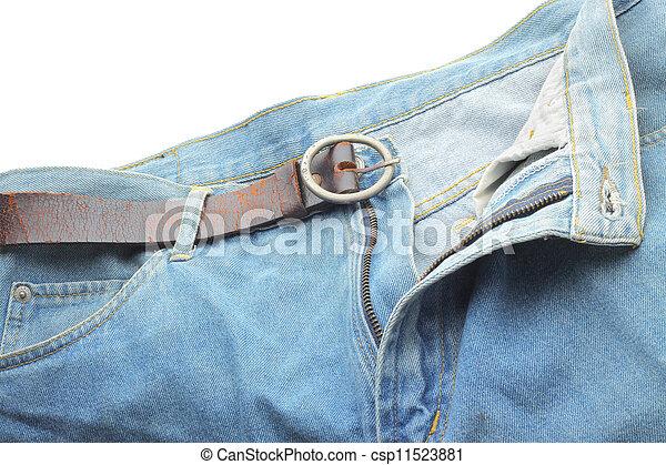 close up blue jeans - csp11523881