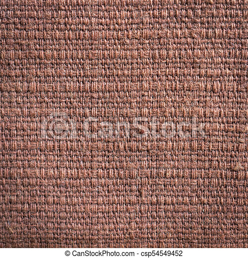 Close up brown fabric texture and background - csp54549452