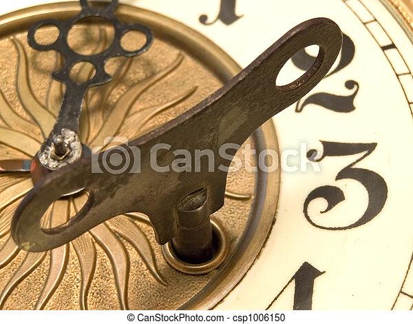 Close up clock - csp1006150