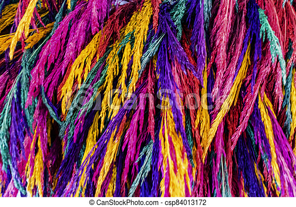 close up colorful dried flowers - csp84013172