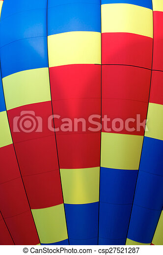 Close Up Detail Of Hot Air Balloon Primary Colors Stock Illustration