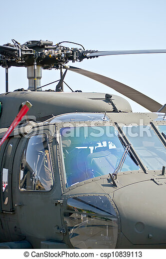 Close up front view of a helicopter - csp10839113