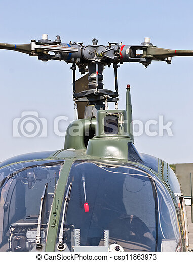 Close up front view of a helicopter - csp11863973