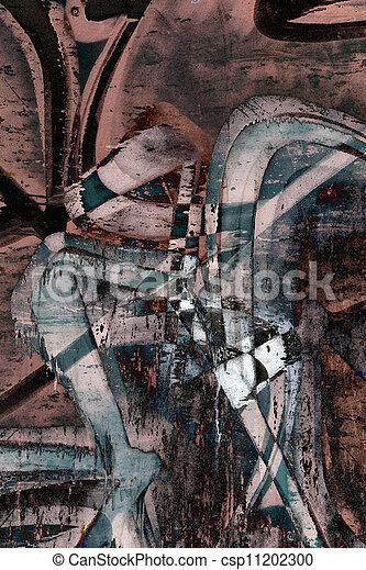 Close up grunge graffiti background  - csp11202300