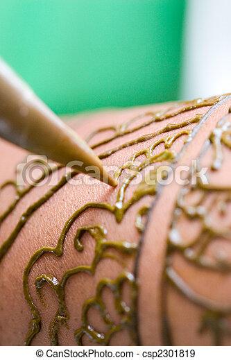 Close Up Henna - csp2301819