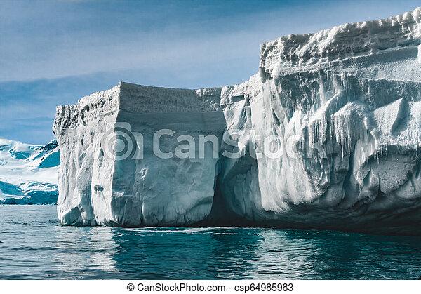 Close-up iceberg. Antarctic landscape. - csp64985983