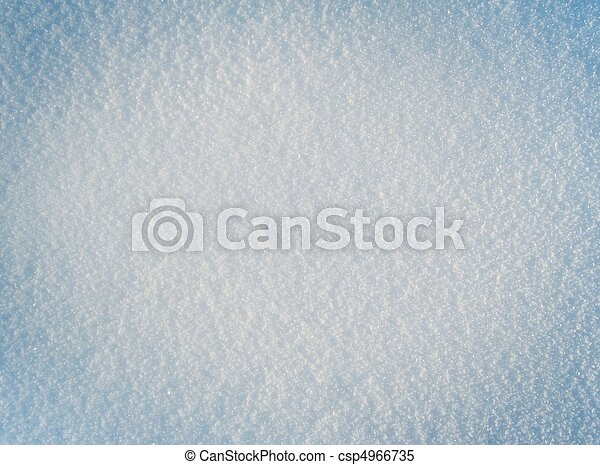 Close-up image of fresh white snow. Snow background - csp4966735