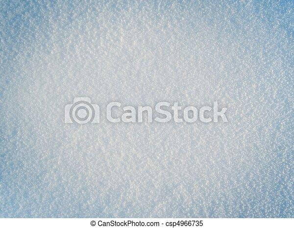 Close-up image of fresh white snow. Snow background - csp4966735