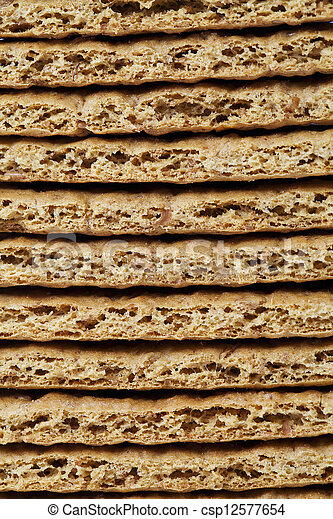 close up image of pile of crackers - csp12577654