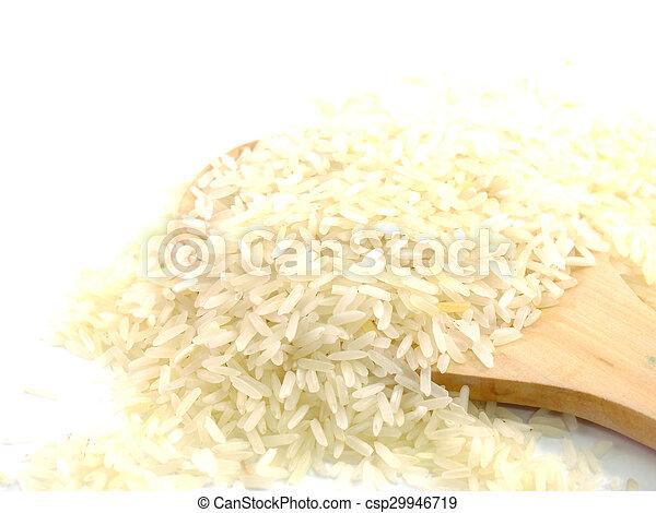 close up jusmin rice - csp29946719
