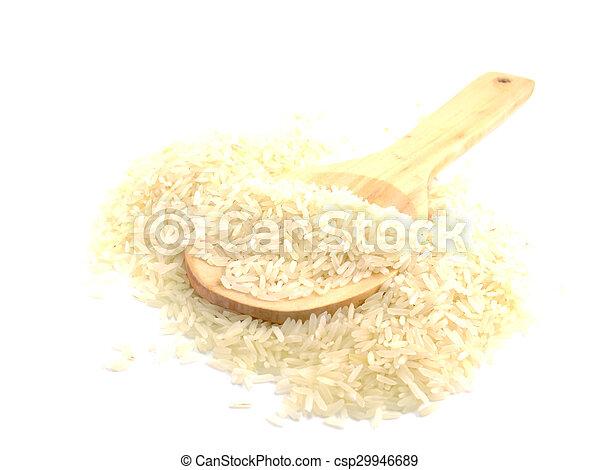 close up jusmin rice - csp29946689
