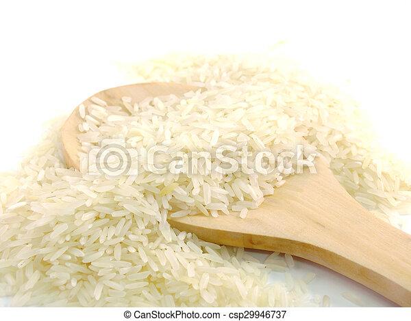 close up jusmin rice - csp29946737