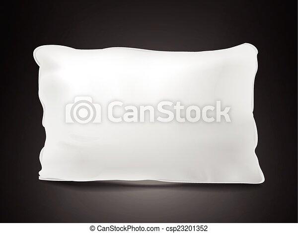 close up look at blank pillow  - csp23201352