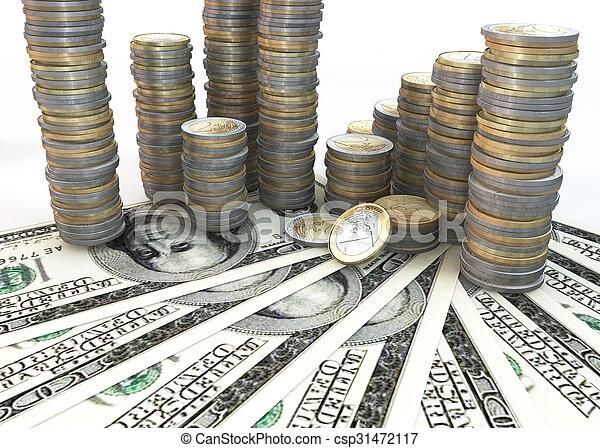Close up Money Stack - csp31472117