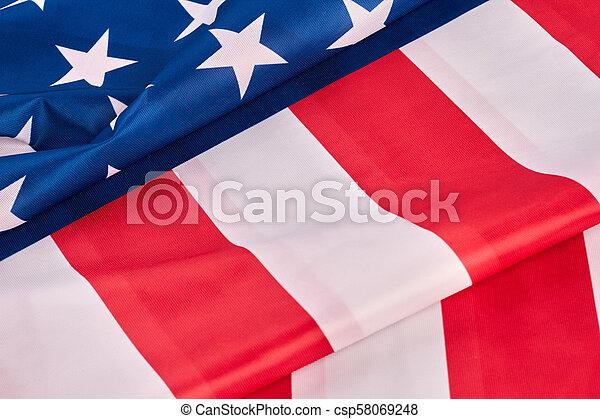 Close Up National Flag Of Usa