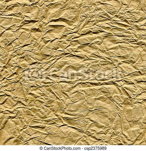 Close up of a brown paper bag. - csp2375989